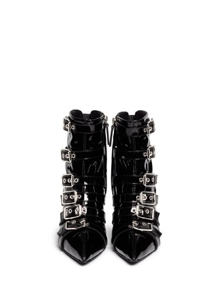 Figure View - Click To Enlarge - Giuseppe Zanotti Design - 'Yvette' patent leather buckle boots