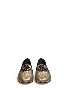 GIUSEPPE ZANOTTI DESIGN'Dalila' lace foil print loafers