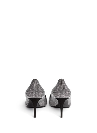 Back View - Click To Enlarge - Giuseppe Zanotti Design - 'Olinda' V-throat stud suede pumps