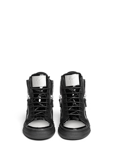 GIUSEPPE ZANOTTI DESIGN 'London' metal plate patent leather sneakers