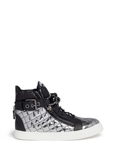 GIUSEPPE ZANOTTI DESIGN 'London' metallic quilted leather sneakers