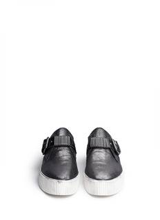 ASH'Kiss' metallic leather flatform sneakers
