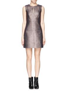 DIANE VON FURSTENBERG'Yvette' glitter jacquard stretch back dress