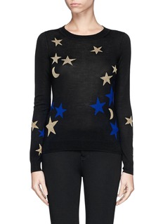 DIANE VON FURSTENBERG Star and moon intarsia sweater