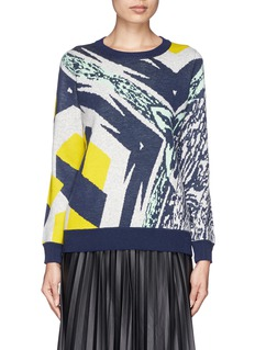 J. CREWDouble-knit abstract sweater