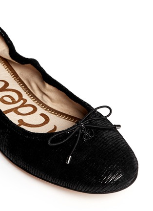 Detail View - Click To Enlarge - Sam Edelman - 'Felicia' textured-glossy leather flats