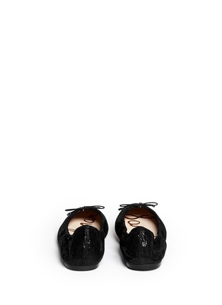 Back View - Click To Enlarge - Sam Edelman - 'Felicia' textured-glossy leather flats