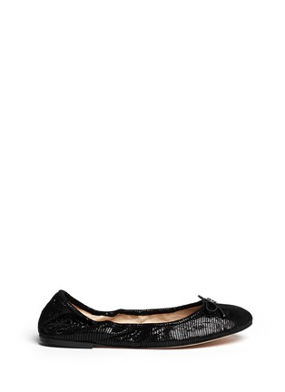 Main View - Click To Enlarge - Sam Edelman - 'Felicia' textured-glossy leather flats