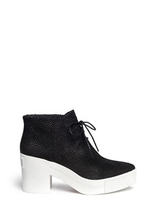 ASH 'Lucky' python embossed leather platform booties