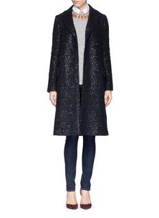 DIANE VON FURSTENBERG'Mid Dietrich' sequin wool-mohair coat