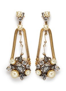 ERICKSON BEAMON 'Stratosphere' crystal chain drop earrings