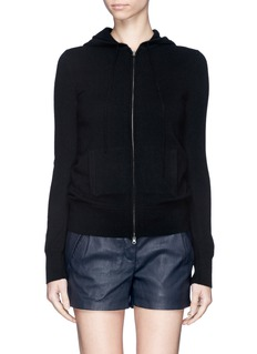 J. CREW Collection cashmere zip-front hoodie