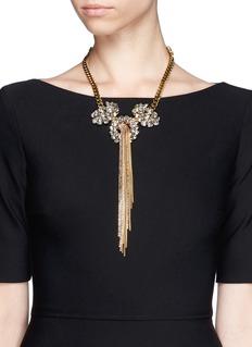 ERICKSON BEAMON'Damsel' fringe crystal necklace