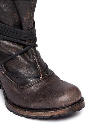 Detail View - Click To Enlarge - FREEBIRD - 'Jumpn' wrap string tie leather boots