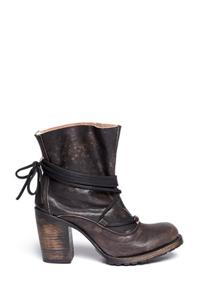 Main View - Click To Enlarge - FREEBIRD - 'Jumpn' wrap string tie leather boots