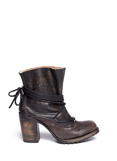 FREEBIRD 'Jumpn' wrap string tie leather boots