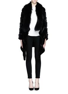 YVES SALOMONMink tail wool-cashmere raccoon fur coat