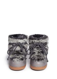 IKKII'Rabbit Low' sheepskin shearling boots