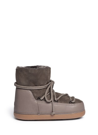 Main View - Click To Enlarge - INUIKII - 'Classic Low' lambskin shearling boots