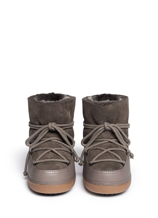 Figure View - Click To Enlarge - INUIKII - 'Classic Low' lambskin shearling boots