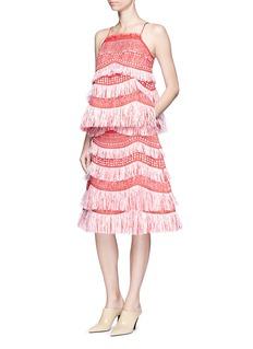 Angel ChenTassel fringe raffia skirt