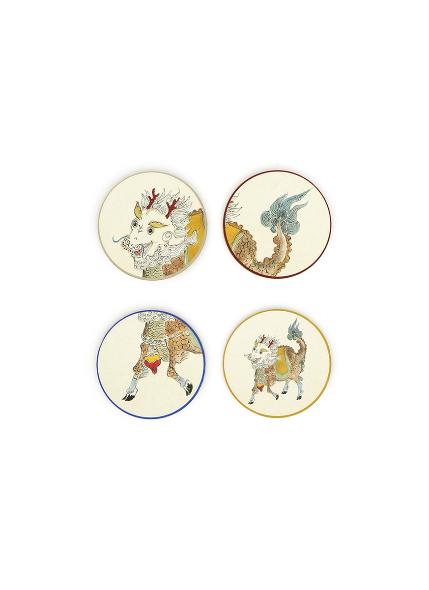 Wish Qilin coaster set by SHANG XIA