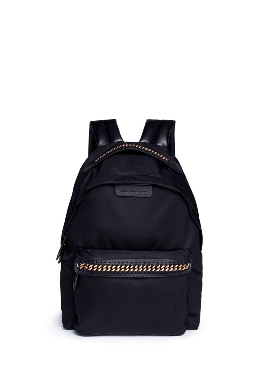 Falabella GO chain trim eco nylon backpack by Stella McCartney