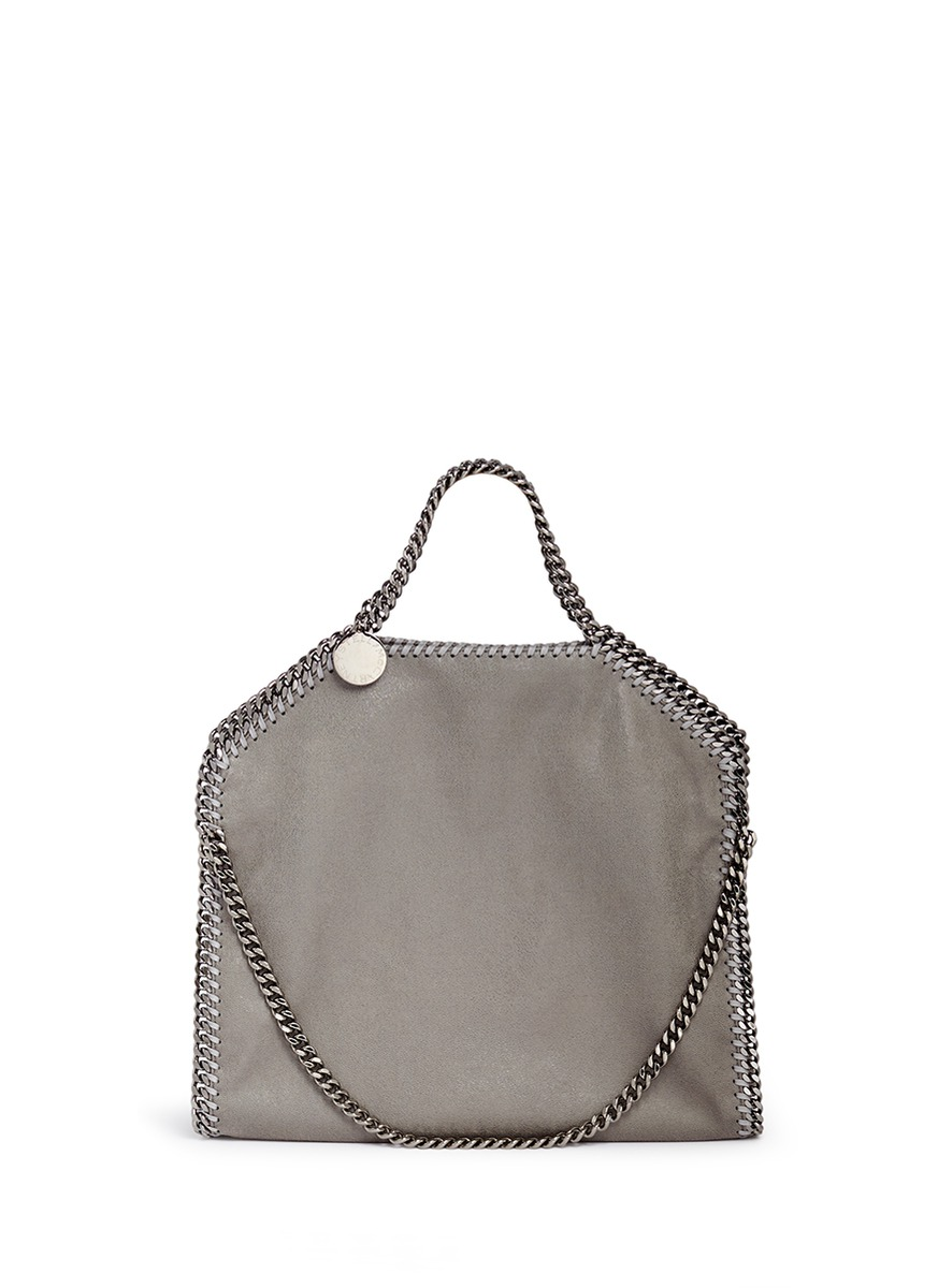 Falabella small shaggy deer foldover chain tote by Stella McCartney