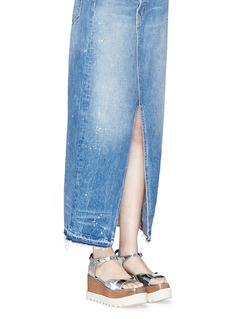 Stella McCartney'Elyse' star appliqué wood platform mirror sandals