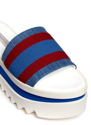 Detail View - Click To Enlarge - Stella McCartney - Stripe band slide platform sandals
