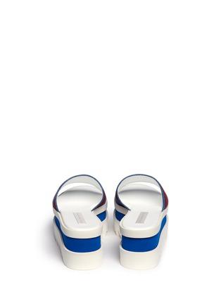 Back View - Click To Enlarge - Stella McCartney - Stripe band slide platform sandals