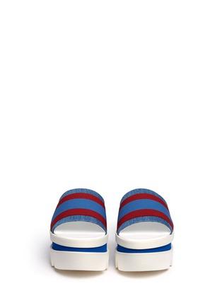 Front View - Click To Enlarge - Stella McCartney - Stripe band slide platform sandals