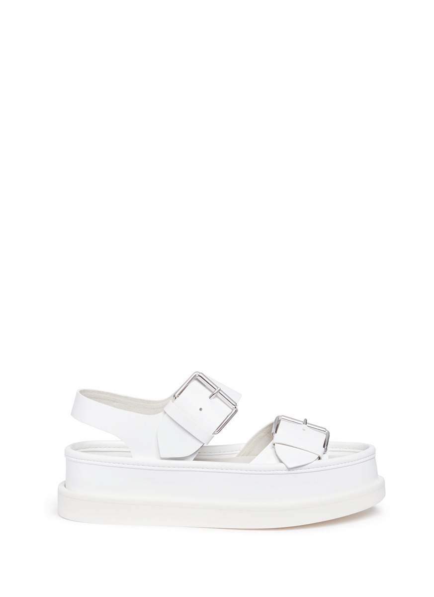 Alter nappa buckle platform sandals by Stella McCartney