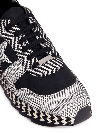 Detail View - Click To Enlarge - Stella McCartney - 'Macy' star patch mixed stripe sneakers
