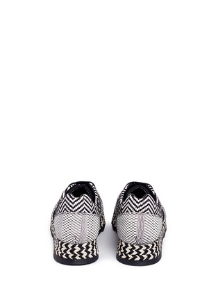 Back View - Click To Enlarge - Stella McCartney - 'Macy' star patch mixed stripe sneakers