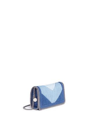 Detail View - Click To Enlarge - Stella McCartney - 'Falabella' chevron stripe eco denim chain crossbody bag