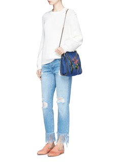 Stella McCartney 'Falabella' mini embroidered eco denim two-way chain tote