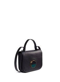 Marni'Pois' round slide lock leather crossbody bag