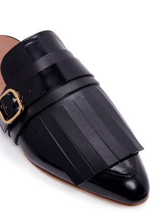 Detail View - Click To Enlarge - Marni - 'Sabot' leather kiltie mules