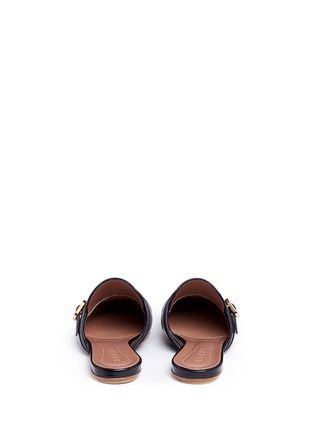 Back View - Click To Enlarge - Marni - 'Sabot' leather kiltie mules
