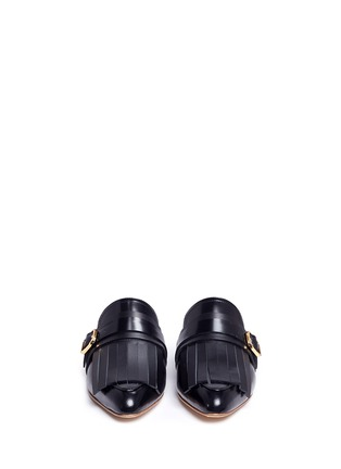 Front View - Click To Enlarge - Marni - 'Sabot' leather kiltie mules