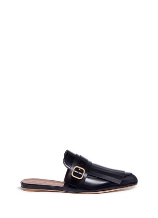 Main View - Click To Enlarge - Marni - 'Sabot' leather kiltie mules