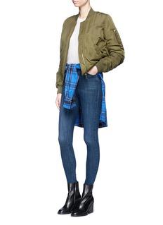 TopshopLeopard print faux fur lined satin bomber jacket
