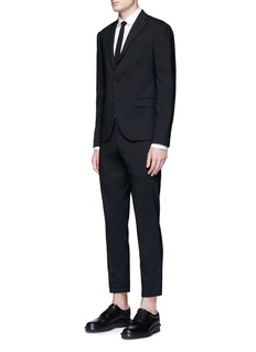 Neil Barrett Military braid embroidered tuxedo shirt