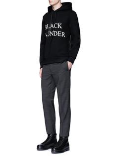 Neil Barrett'BLACK THUNDER' thunderbolt print hoodie