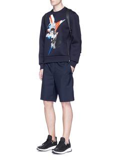 Neil BarrettPortrait thunderbolt hybrid print neoprene sweatshirt