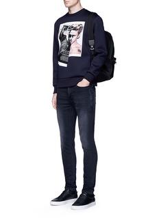Neil Barrettx Interview 'Brad Bieber' hybrid print sweatshirt