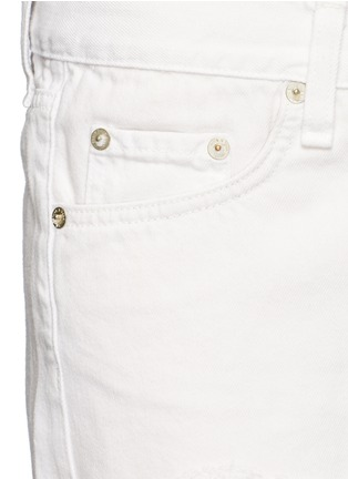 Detail View - Click To Enlarge - rag & bone/JEAN - 'Cut Off' denim shorts