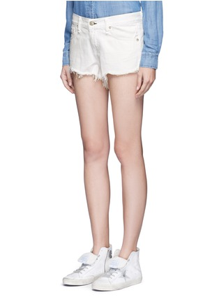 Front View - Click To Enlarge - rag & bone/JEAN - 'Cut Off' denim shorts