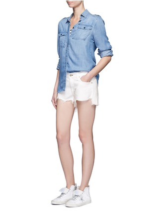 Figure View - Click To Enlarge - rag & bone/JEAN - 'Cut Off' denim shorts